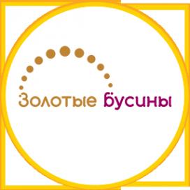 Логотип компании Золотые бусины